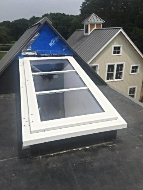 LuciGold lightweight all aluminum roof hatch custom designed for safe easy roof access